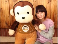 stuffed lovely monkey animal plush toys straps monkey toy birthday gift about 70cm