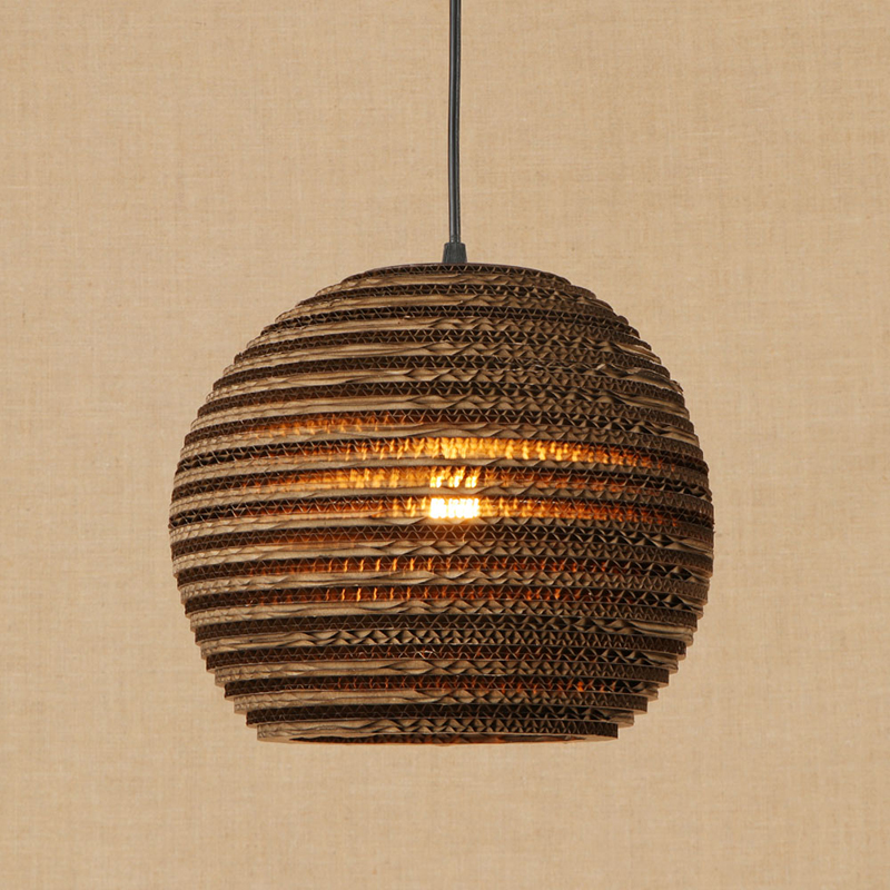 Modern Nordic Pendant Light Hanging E27 LED Origami Paper Shade Pendant Lamp Bar Restaurant Living Room
