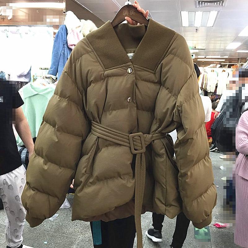 Unique Manteau Marée Libre Cents Réparation Coton Vente Poudre Aucun Prendre noir Hiver Ciel pu Solide Beige Poitrine De Corps Nouvelle Taille 2018 Le À Longue bleu Femmes xv17HwxqI