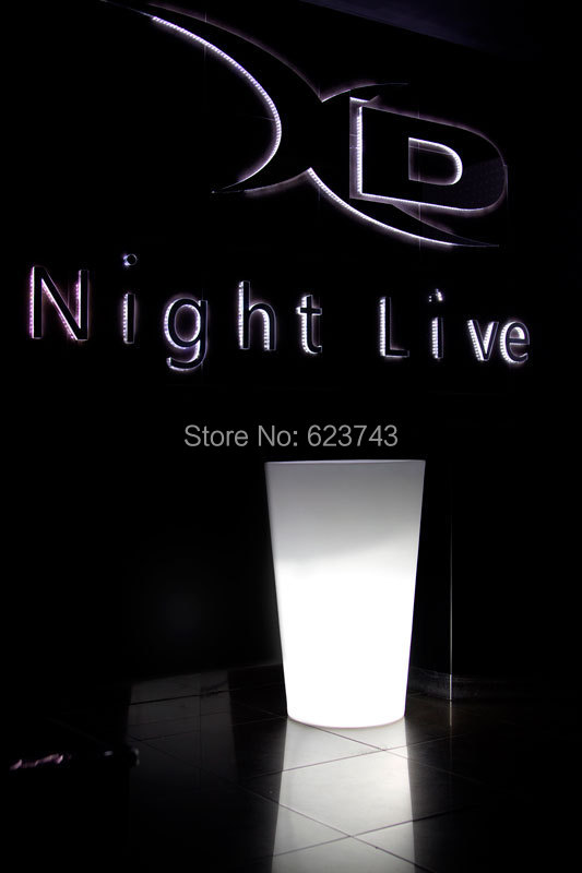 Free Ship Outdoor H93cm LED Stand Illuminated Tango Ice Bucket Holder Furniture,X-POT LIGHT LED For Party Event Bars Decoration