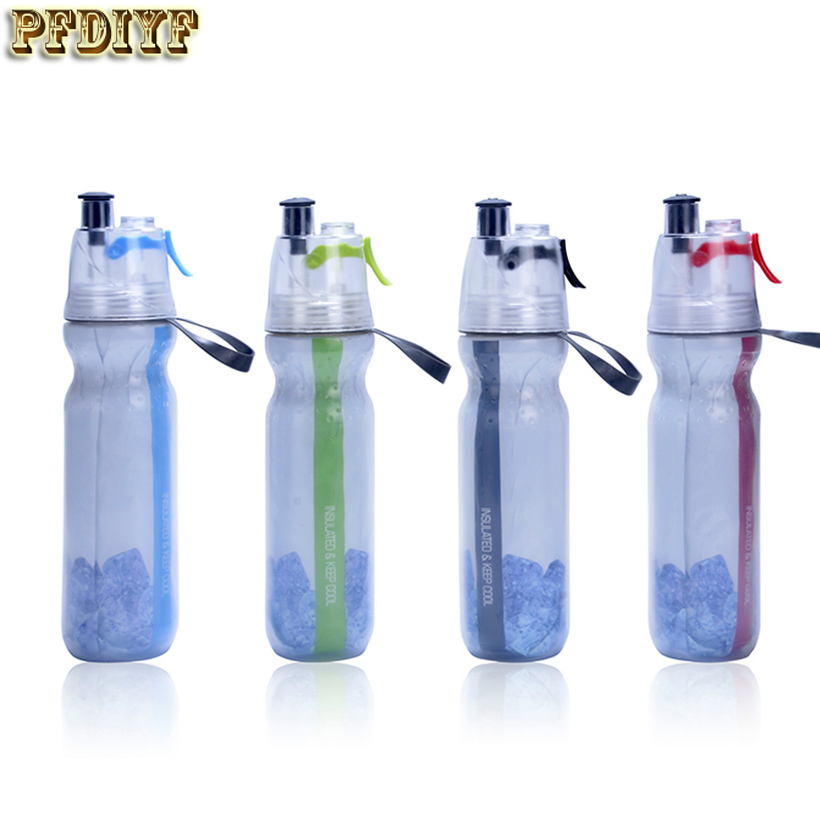 Water Bottle Uses: 500ml Fashion Sports Spray Water Bottle Dual Use Portable