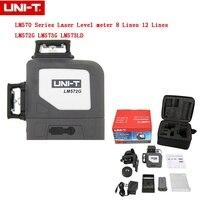 UNI T Новый LM570 серии лазерный измеритель уровня 8 линий 12 линии 360 ° автоматическое выравнивание перекрестный лазерный уровень метр LM572G LM573G