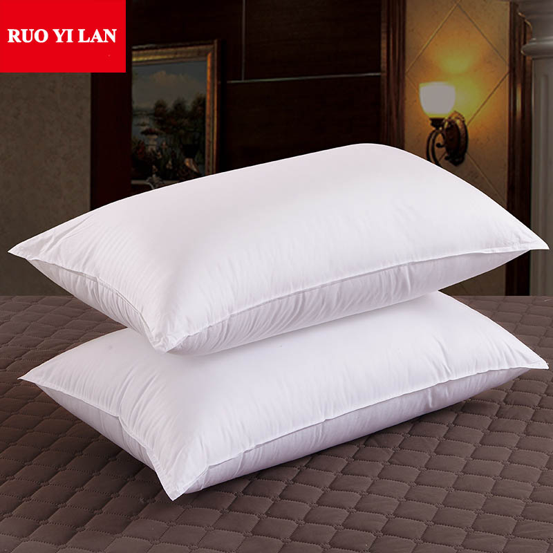 a-pair-white-color-100-cotton-raincloth-pillow-core-4575cm-for-adults-home-hotel-quality-pillow-mircro-filler-free-shipping