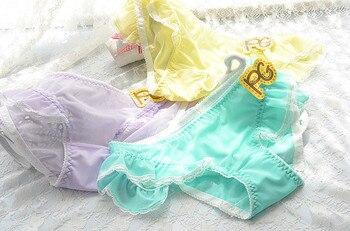 Candy Color Gauze Flounces Japanese Cute Briefs