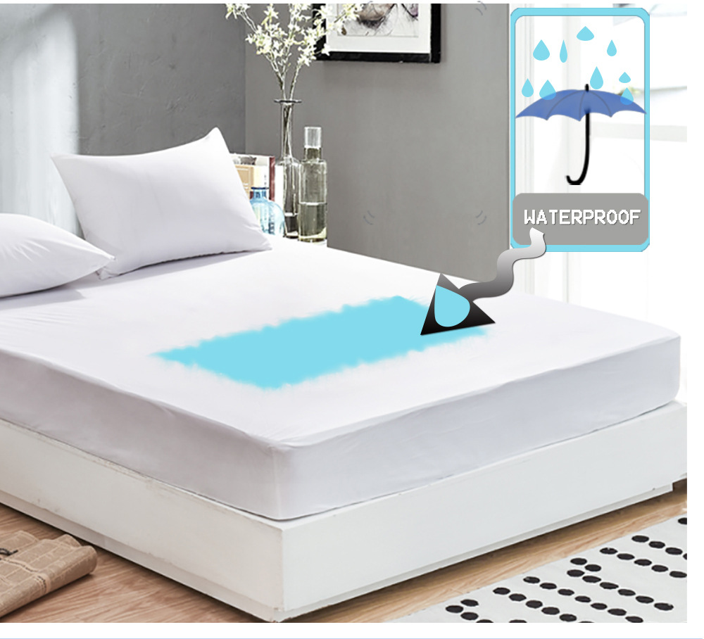 Enipate Anti-mite Bed Mattress Protection Pad Smooth Waterproof Mattress Protector Cover for Bed Wet Breathable Hypoallergenic
