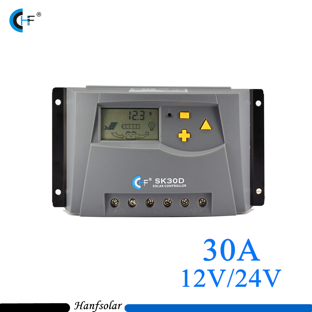 30A Solar Controller Solar Panel Battery Charger Controller 12V 24 V Auto Switch for PV System SK30D