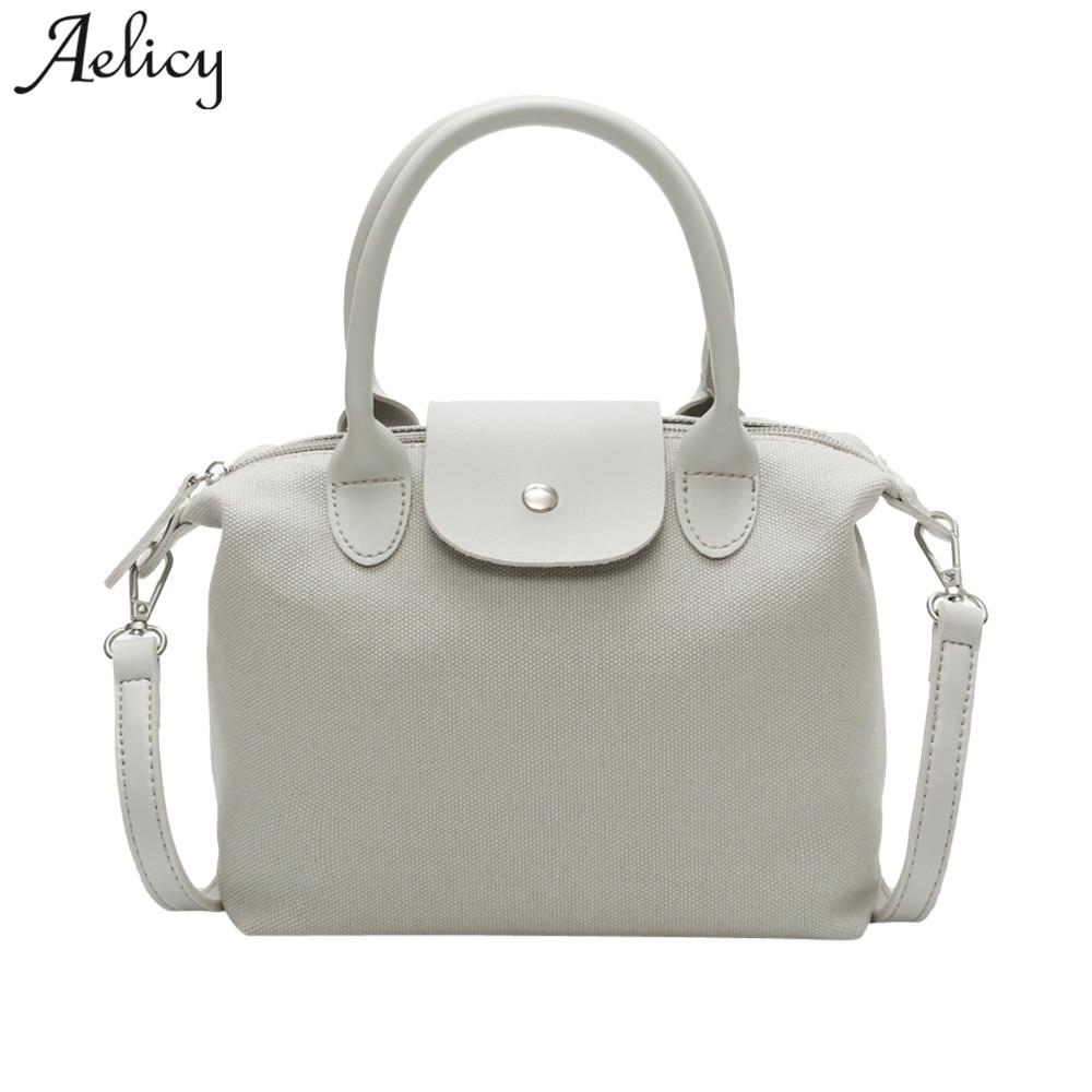 Handbag Girl Tote Bag Lady Canvas Zipper Hobos Shoulder Bag Female Large Capacity Small Leisure Bag
