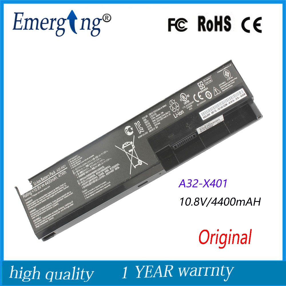 New Original 47Wh Laptop Battery for ASUS X301 X401 X501 X301A X401A X501A A31-X401 F301 F301A F301A1 F401 F501 A32-X401 S401A 11 3v 47wh new original laptop battery for lenovo 45n1754 45n1755 45n1756 45n1757 e450 e455 e450c series
