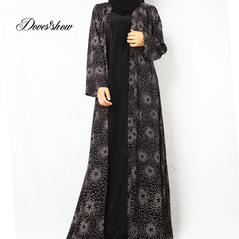 Fashion Muslim Dress Abaya in Dubai Islamic Clothing For Women Jilbab Djellaba Robe Musulmane Turkish Baju Robe Kimono Kaftan 09 contrast panel kimono sleeve kaftan dress