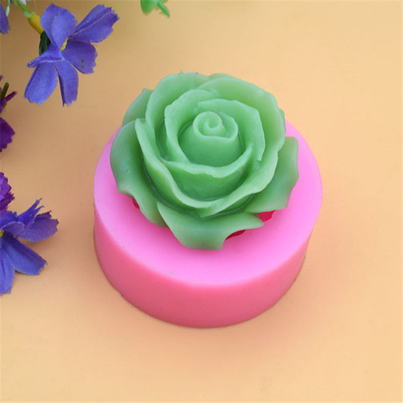 3D Flower Bloom Rose Shape Fondant Silicone Soap Cake Mold Cupcake Candy MP