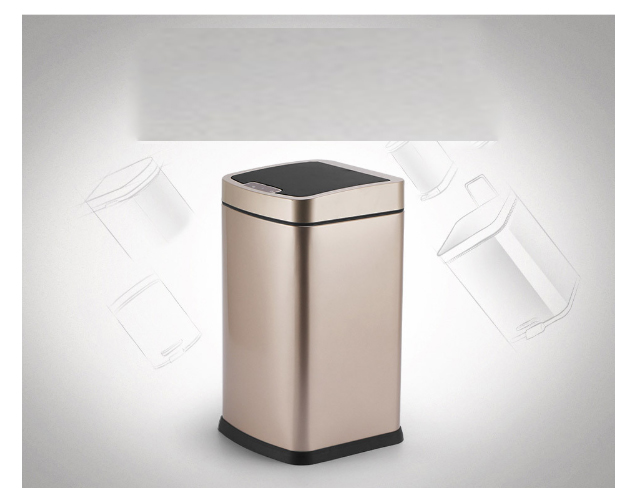 Intelligent induction trash dispenser stainless steel kitchen waste cleaner induction  9L/12L volumeIntelligent induction trash dispenser stainless steel kitchen waste cleaner induction  9L/12L volume