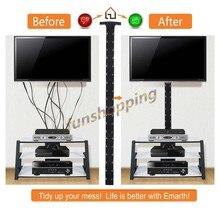 4 szt. 1.2m rękaw do zarządzania kablami elastyczna neoprenowa osłonka na kable przewód zasilający Hider organizer z przykrywką na PC/TV/Office/telefony