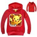 2-10Y Дети Футболки Мальчики майка С Длинным Рукавом Детская Одежда Осень Pokemon Рубашка Дети Должны Поймать Их Всех! Pjmasks Толстовки