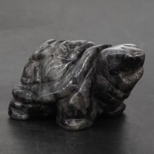 Turtle Tortoise Figurine 2 Natural Gemstone Larvikite Labradorite Crystal Carved Statue Crafts Home Decor