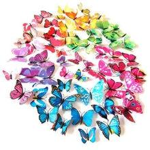 12 sztuk/partia 3D naklejki ścienne pcv magnesy w kształcie motyli DIY magnesy na lodówkę plakat dekoracyjny do domu pokoje dla dzieci ścienne dekoracje pokoju