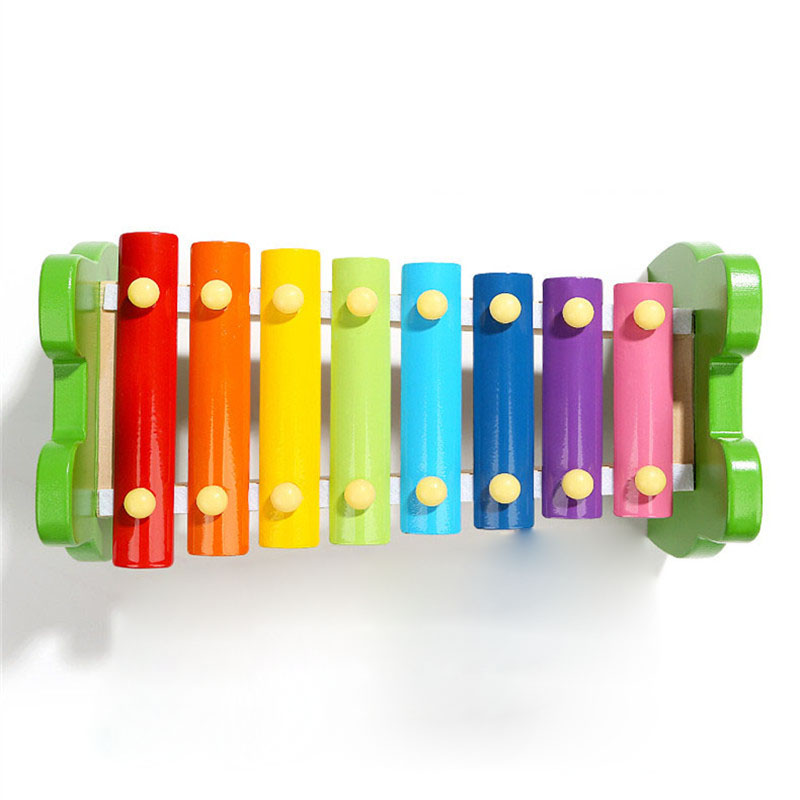 Frogs Shape Xylophone Music Instrument Wooden Frame Style Children Kids Musical Funny Learning Toys Baby Educational Gift in Noise Maker from Toys Hobbies