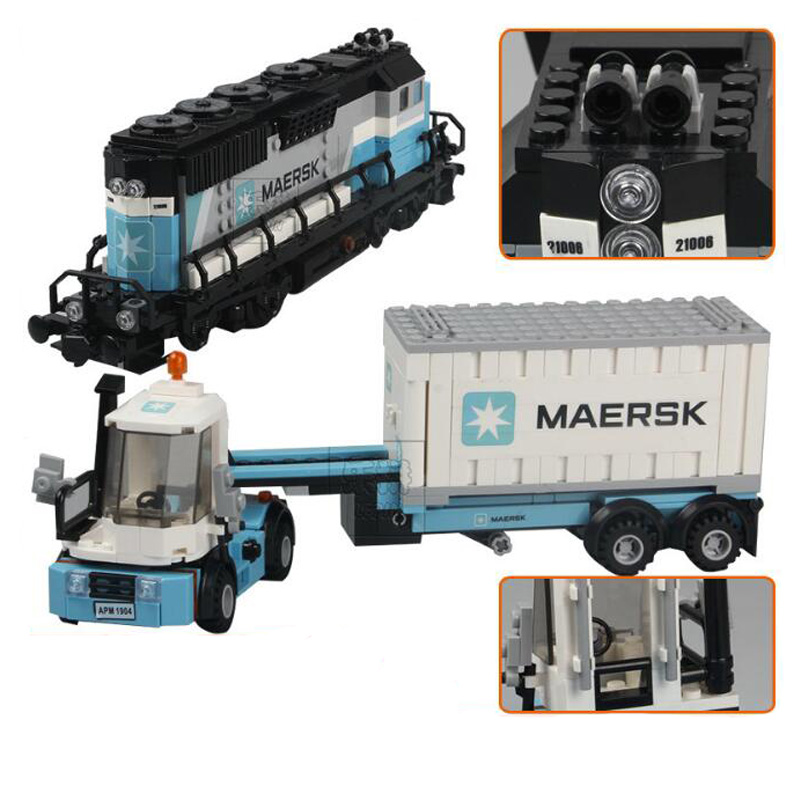 21006 Maersk Train Model Block Toys Education Car Gifts For Children Compatible Lepin City Technic Series Building Blocks Set lego education 9689 простые механизмы