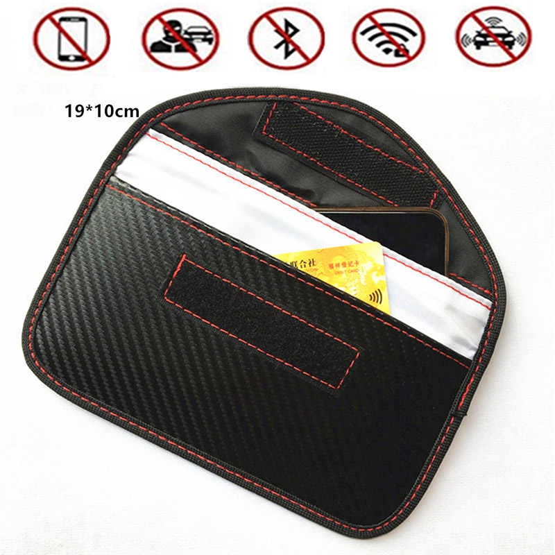 Japan Station Faraday Card Car Remote Key Storage Bag FOB Signal Blocker RFID Shield Phone Case for Privacy Protection RFID018
