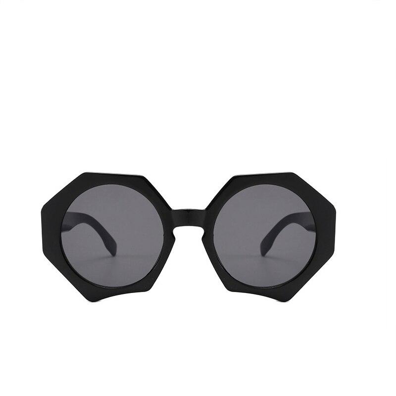 RILIXESOversized Sunglasses Women 2019 Polygonal Sunglass Ladies Luxury Brand Vintage Big Frame Sun Glasses Female Trend Eyewear