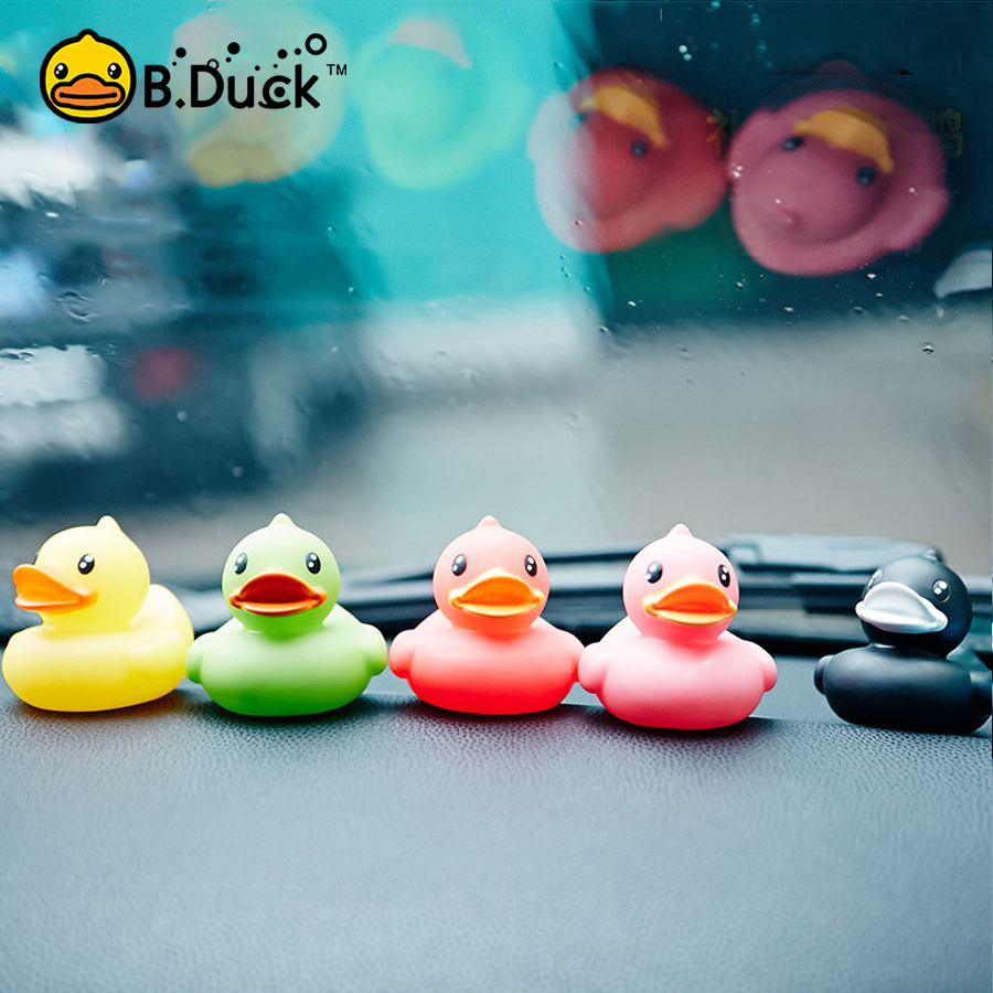 Kids Baby Bath Toys Squeaky Rubber Duck Shower Car Decoration Water Floating Mini Bathroom Toys Kids Fun Swim Toy Gift Box 6PCS