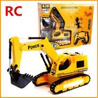 Elektrikli RC oyuncaklar, 1:10 Kablosuz Ekskavatör, 6 kanal uzaktan kumanda, Ekskavatör kamyon, Kamyon arabalar, Ücretsiz kargo