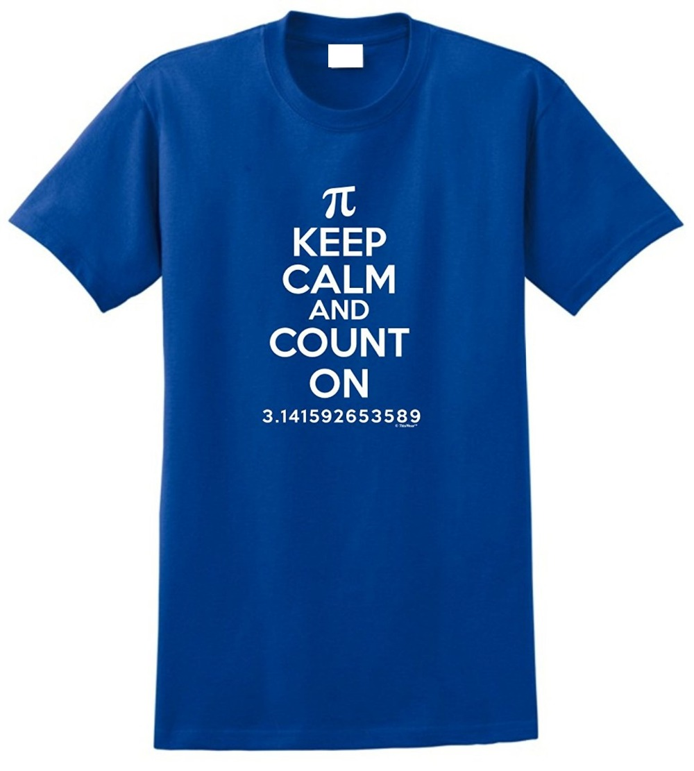 Custom Shirts Online Pi Day Gifts Keep Calm Count On Math MenS Casual O-Neck Short Sleeve Tee Shirts
