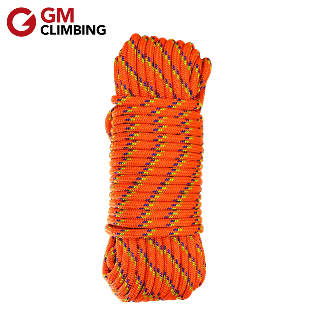 GM CLIMBING 10mm Double Braided Safety Rope Accessory Cord Rescue Caving Survival Arborist Mountaineering Equipment