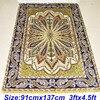 Mingxin 3x4 5ft Antique Silk Muslim Carpet Hand Knotted Grass Green Wholesale Prayer Rugs Area Rug