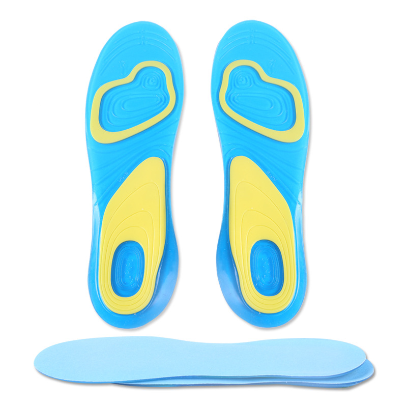 Free Size Silicone Insoles Foot Care for Plantar Fasciitis Heel Spur Running Sport Insole Shock Absorption Pad for Men and Women