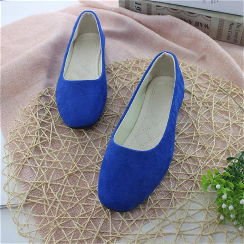 Big Size Women Flats Candy Color Shoes Woman Loafers Square Toe Spring Autumn Flat Casual Shoes Women Plus Size 35-42 girls fashion punk shoes woman spring flats footwear lace up oxford women gold silver loafers boat shoes big size 35 43 s 18