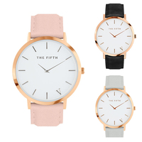 THE FIFTH Casual Mens Watches Top Brand Luxury Leather Business Quartz Watch Men Wristwatch Relogio Masculino