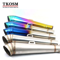 TKOSM 36 51MM Motorcycle Stainless Steel Exhaust Pipe Moto Escape Bike Muffler Pipe For Yamaha FZ1 CBR300 CB600 CB750 MT07 MT09