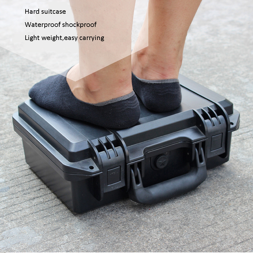 SQ3828H Internal 380*280*165mm light weight plastic easy carrying case for tablets transportion popular price high quality plastic carrying case for camera
