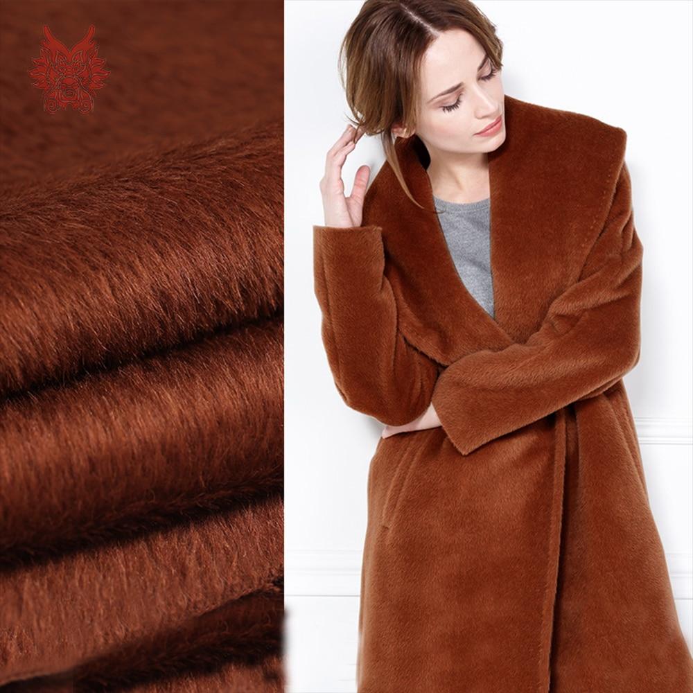 American luxury style caramel Colour plush Alpaca wool woolen fabric for coat dress winter woolen tissues SP4610 FREE SHIPPING