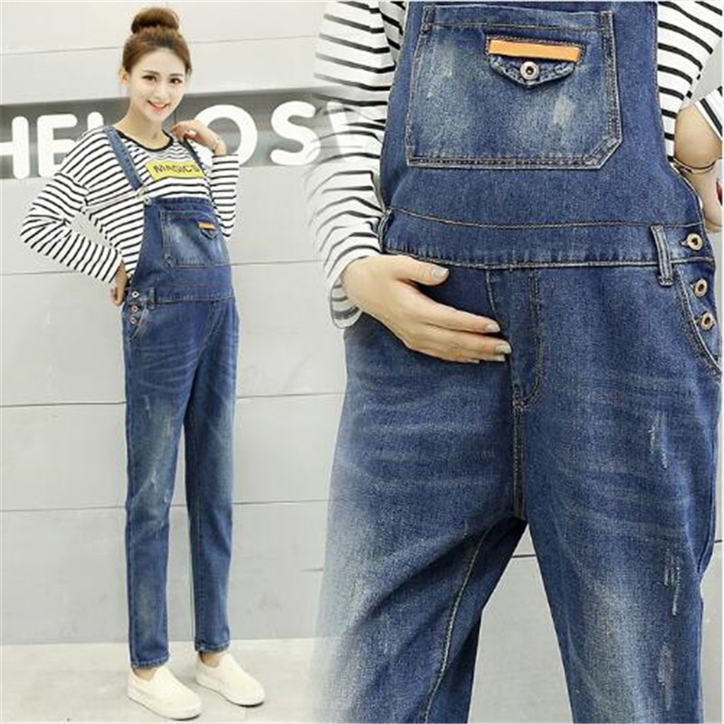 New Fashion Maternity Jeans Overalls Jumpsuits Fall Winter Clothes for Pregnant Women Plus Size Pregnancy Pants Trousers woman fashion slim solid knee distrressed maternity wear jeans premama pregnancy prop belly adjustable pants for women c73