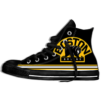 2019 Sport Shoes Men Women Comfortable Unisex Summer Boston Bruins Shoes Lace Up High Top Sneakers