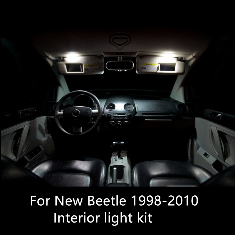 Shinman 5x <font><b>canbus</b></font> Error Free Interior <font><b>LED</b></font> Light Package Kit for <font><b>VW</b></font> New Beetle 1998-2010 car accessories reading dome lights image