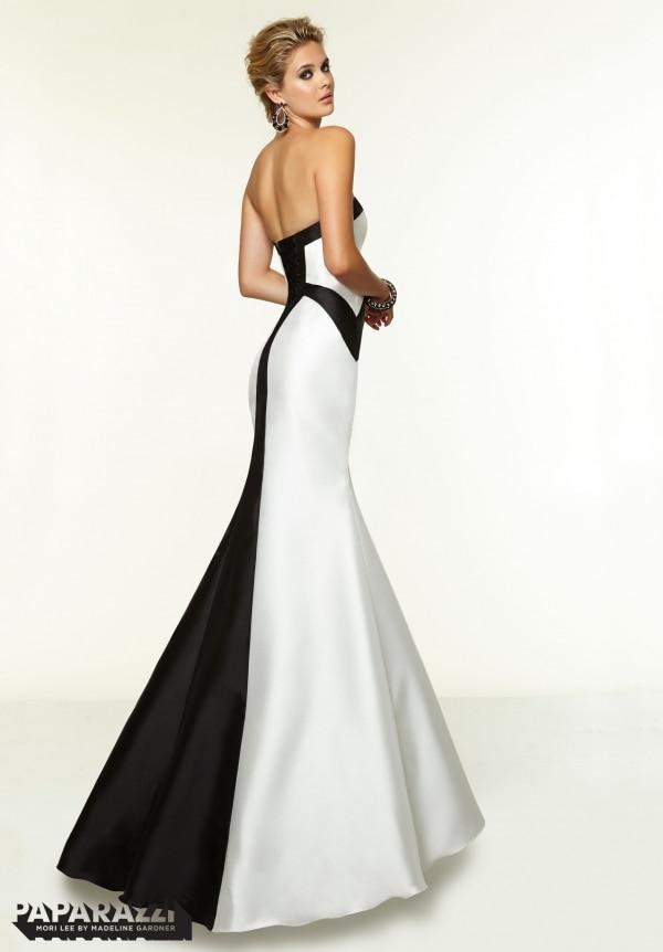 Vestidos de fiesta en blanco y negro