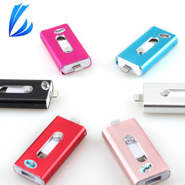 LL TRADER For iOS USB Flash Drive U Stick 256/128GB Storage OTG Mini USB 2.0 Memory Pendrive For iPhone iPad iPod Android Device