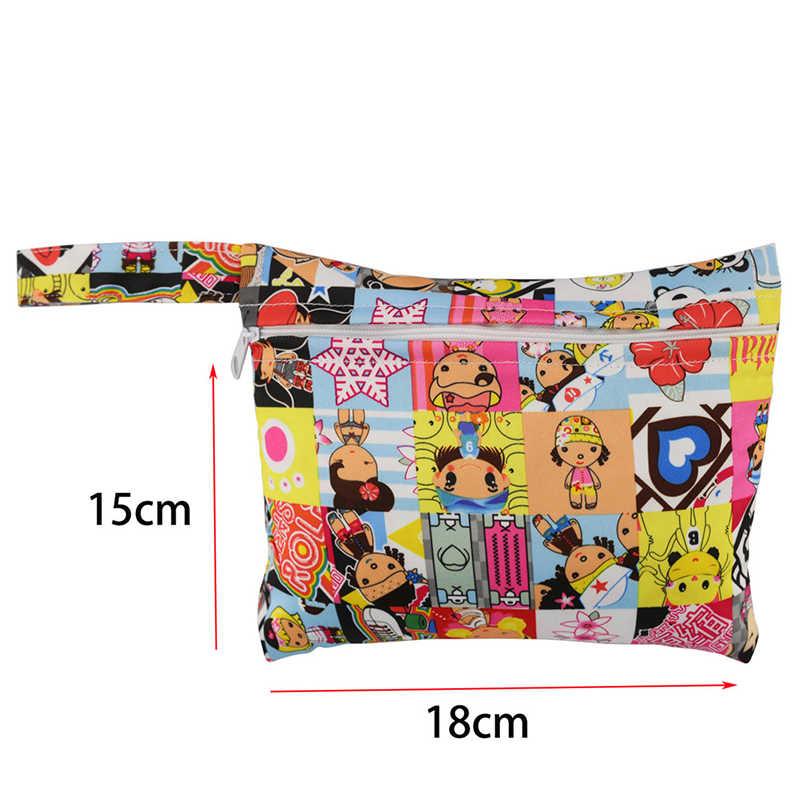 Mini bolsa de lactancia de dibujos animados para Mama almohadillas menstruales cuidado del bebé bolsas de pañales para cochecito impermeable reutilizable
