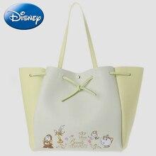 Beauty And Beast Tote Bags Disney Women New Genuine Handbag Wallet Princess Girls Cartoon Shoulder Messenger Crossbody-Bag Gifts