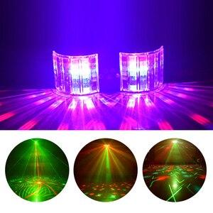 Image 2 - Iluminação da borboleta do laser do dobro espelho 4 hole para a decoração do palco luzes da festa do dj do controlador dmx da luz do disco do laser do diodo emissor de luz de ysh