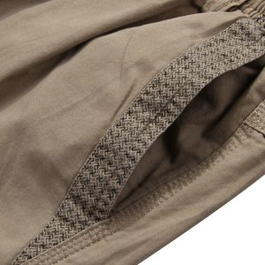 Image 5 - Zomer Mannen Safari Stijl Cargo Shorts Pocket Katoen Plus Size 6XL 7XL 8XL Man Casual Elastische Taille Shorts Stretch kaki 46