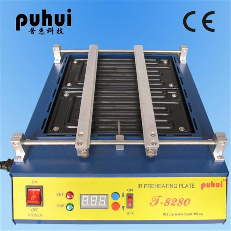 220V or 110V Puhui T8280 PCB Preheater IR Preheating Plate T-8280 IR-Preheating Oven 0-450degree Celsius цены