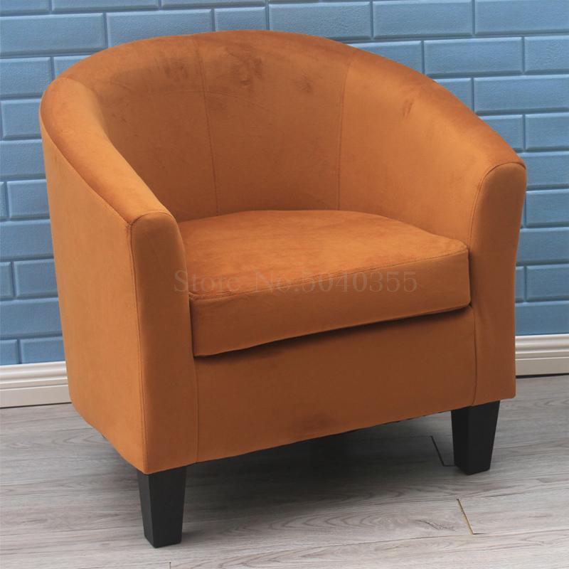 Европейский тканевая одноместная Софа стул интернет кафе кофе небольшой диван гостиничная комната кабинет компьютерный диван стул - Цвет: VIP 11