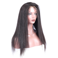 Итальянский яки полное кружева парики человеческих волос с волосами младенца бразильский предварительно сорвал 130% плотность полный шнуро