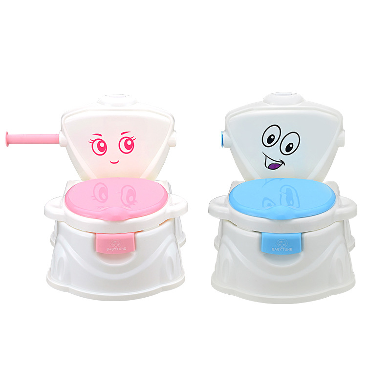 New Baby Potty Portable Cute Cartoon Musical Kids Toilet Cars Children's Pot WC Child Potty Chair Training Girls Boy Toilet Seat image