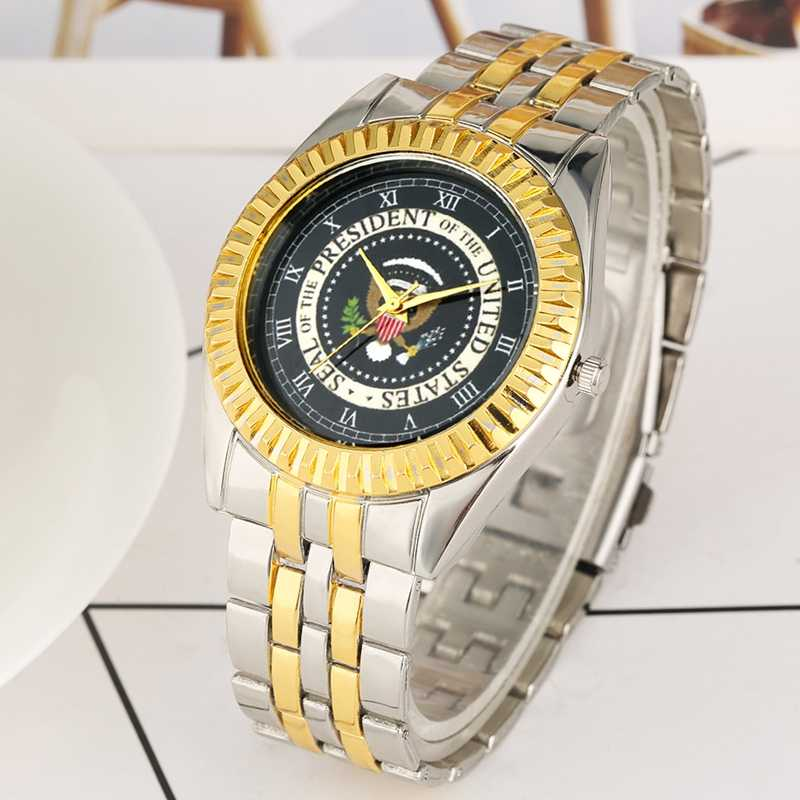 Seal Of President Of America Quartz Watches President Of The United States White House Donald Trump Coin Men's Clock Collections