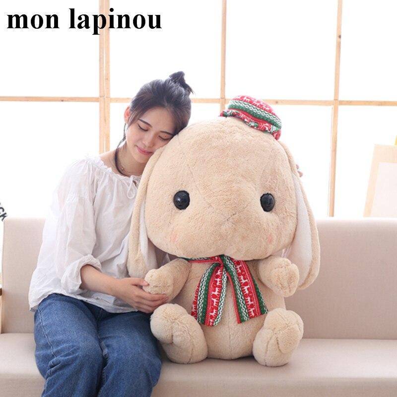 75 CM lapin gros jouets en peluche mignon lapin énorme poupée en peluche doux enfants jouets de haute qualité cadeau de noël pour fille enfants