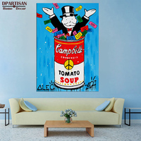 Play With Money Alec Monopoly Wall Street Art Canvas Print POP ART Giclee Poster Print On